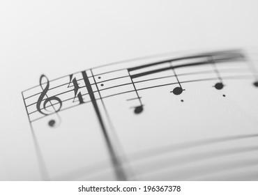 Old Music Sheet Shallow Dof Stock Photo (Edit Now) 3590806