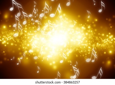 Musical notes on background