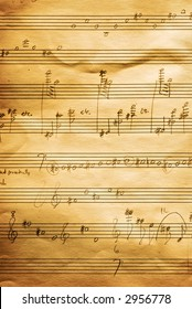 Musical score written in pencil on staff paper