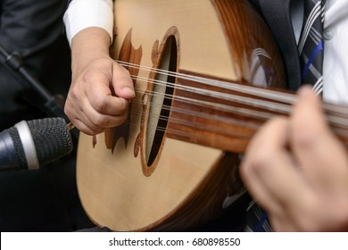 A Musician Playing Note on Lute