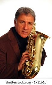 musician with saxophone