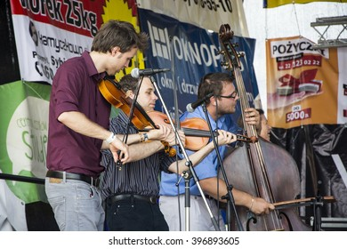 "The musicians on stage Violin. 14 Great Charity Picnic ""Holidays without barriers"" Poland City Przemysl Street Sanocka 14.06.2015"