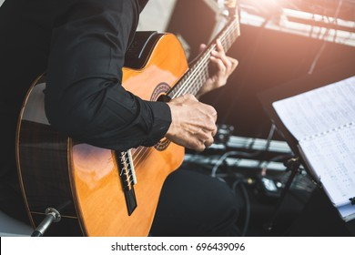Musicians playing guitar
