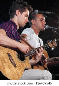musicians playing guitars and singing,for music,entrainment themes