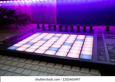 Musician's workplace. Launchpad
