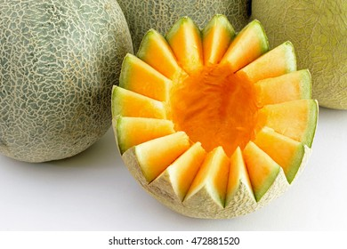 Musk melon - cut and cleaned for sale