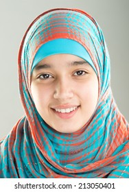 Muslim Arabic teenager girl