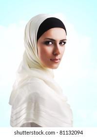 Muslim beautiful girl in Ramadan