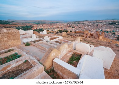 Muslim cemetery graves. Fez, Morocco, North Africa.