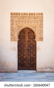 Muslim decorated door and wall