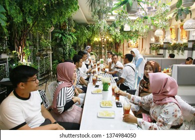 muslim family ramadan fasting. yogyakarta indonesia. april 20, 2019.