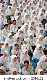 Muslim girls of Malaysia's secondary school, 2005.