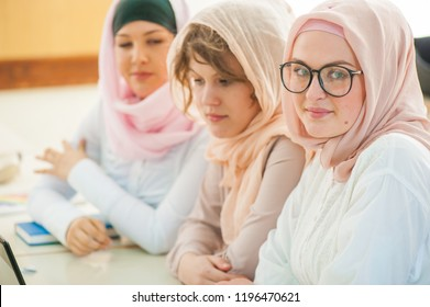 Muslim high school students