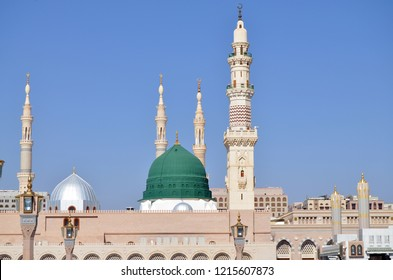 Muslim pilgrimage at Al-Masjid An-Nabawi often called the Prophet Mosque is second holiest site in Islam and is one of the largest mosques on earth 2018