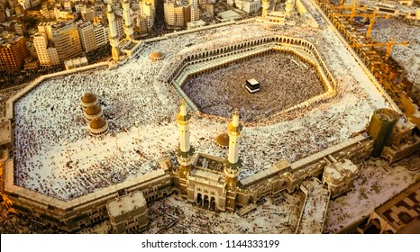 Muslim pilgrims from all over the world gather to perform a small Umrah or Hajj at the Grand Mosque in Mecca, Saudi Arabia