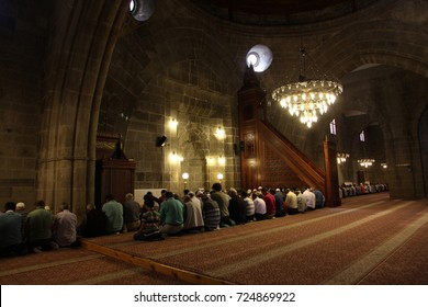 Muslim Prayers, Ulu Mosque, Erzurum, Turkey