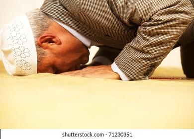 muslim religion praying.