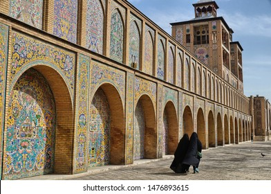 Muslim women leaving the mosque, Tehran, Iran - Shutterstock ID 1476893615