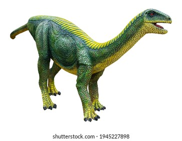 Mussaurus is a genus of herbivorous Sauropodomorph dinosaur that lived during the Late Triassic, Mussaurus isolated on white background with clipping path