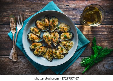 Mussel and wild Fennel gratin