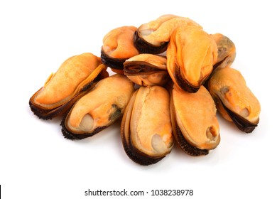 mussels without shell isolated on white background