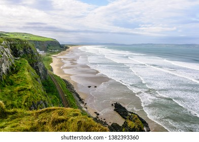 Mussenden Beach, Downhill, Co. Londonderry Northern Ireland. The railway journey here is said to be one of the best in the world