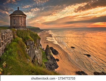 The Mussenden Temple was built as a summer library in 1785 in the grounds of Downhill Demesne near the town of Castlerock on the north coast of Northern Ireland.