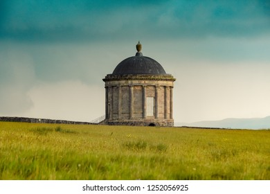 Mussenden Temple, County Londonderry, Northern Ireland just before a thunder storm