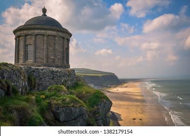 Mussenden Temple looking towards downhill beach, Ireland,game of thrones site,
