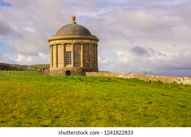 Mussenden Temple on the cliff edge in Downhill Demesne on the North Coast of Ireland in County Londonderry.