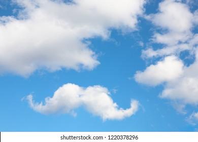 Mustache cloud in the sky