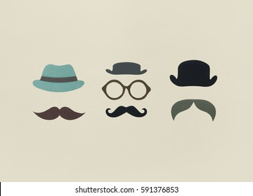 Mustache Style Retro Mask Hipster