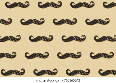 Mustaches repeated background pattern