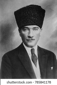 Mustafa Kemal Ataturk, President of Turkey, 1923-1938. He was a supporter of the 1908 Young Turk Revolution, a victorious General of the defense of Gallipoli in 1915, and led the Turkish National Move
