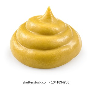Mustard. Clipping path. Mustard isolated.