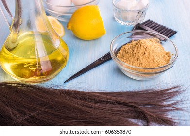 Mustard mask for hair. Ingredients.