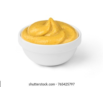mustard sauce in the bowl
