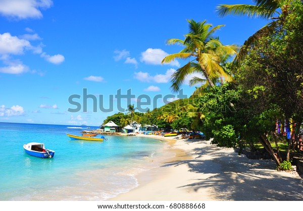 Mustique island in the Caribbean islands