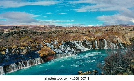 A must-see attraction in Reykholt area is the beautiful Hraunfossar waterfall