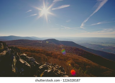 muted fall overlook in shenandoah