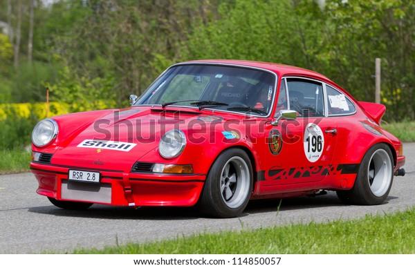 Mutschellen Switzerlandapril 29 Vintage Race Touring Stock