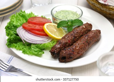 mutton seekh kabab with mint chutney