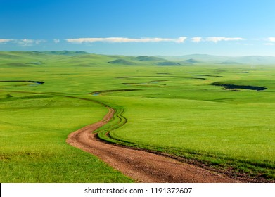 The Muzigler river valley of Hulunbuir grassland of China.