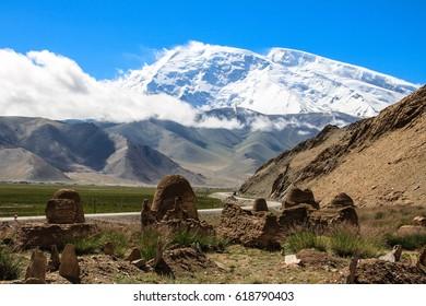 Muztagh-Ata Mountain in the Kashgar region, China