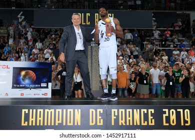MVP DeMarcus Nelson of Lyon during French championship Jeep Elite playoffs basketball Game 5 LDLC ASVEL vs AS Monaco 25 June 2019 Astroballe Villeurbanne France