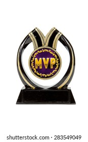 A MVP trophy against a white background
