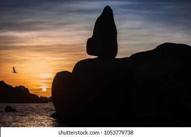 Mwanza, Tanzania - December 29 2017: Bismarck Rock in Mwanza.