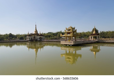 Mwe pagoda is situated in the middle of a small lake  near to Yangon. It is famous because some snakes are living inside