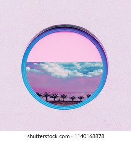 My Beach dreams. Minimal tropical geometry art