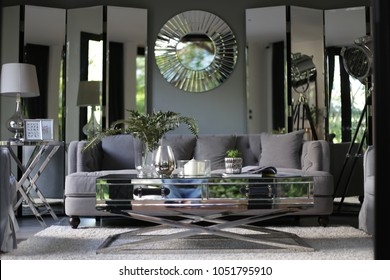 My design Cozy Interior Living Room with Customize Mirror foldable mirror for decoration / Vintage Style / Cozy living space